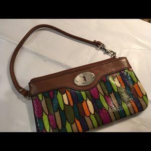 Fossil Key-Per wristlet wallet Clutch